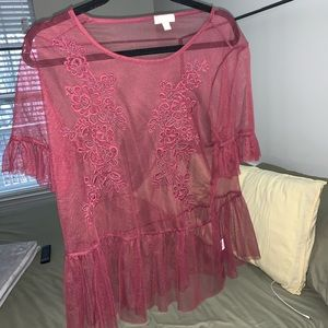 Charming Charlie Blouse size large